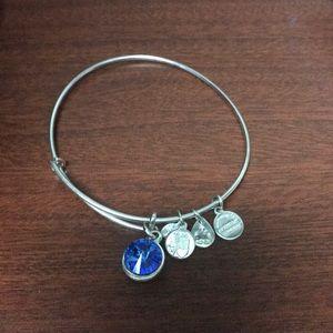 Jewelry - Alex and Ani Silver September Birthstone Bracelet.